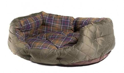 "Barbour Quilted Dog Bed 30"" Olive"