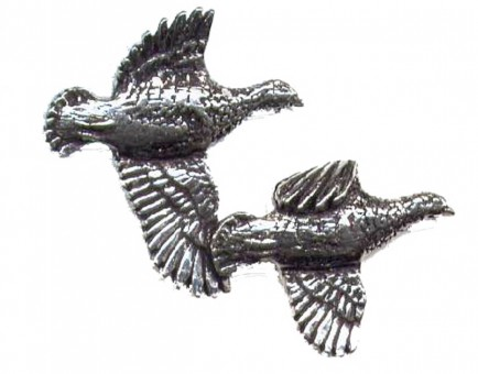 Pewter Partridge Pin Badge