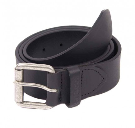 Barbour Matt Leather Belt Black