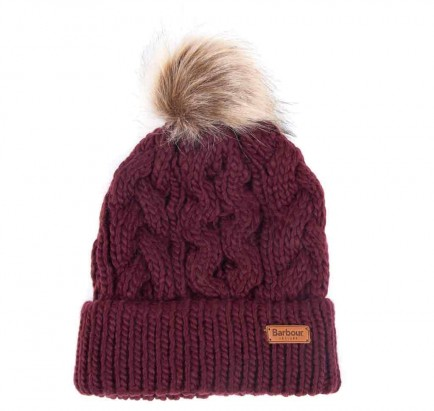 Barbour Penshaw Cable Beanie Bordeaux