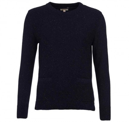 Barbour Brecon Knit Navy