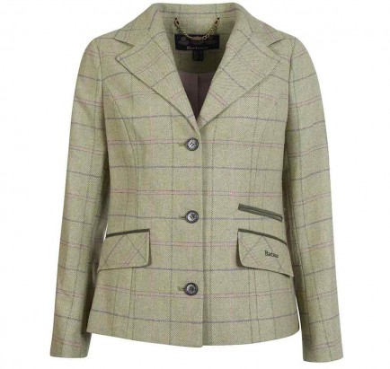 Barbour Trent Tailored Jacket Green Pink Check