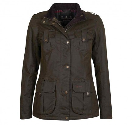 Barbour Winter Defence Wax Jacket Olive/Classic
