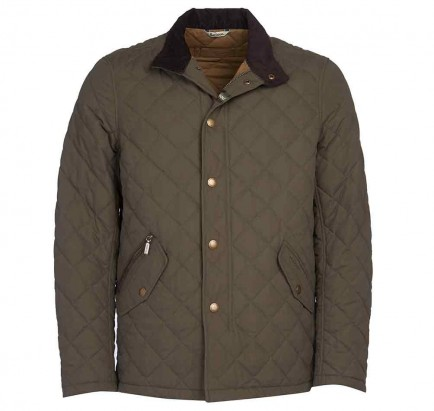 Barbour Shoveler Quilted Jacket Army Green
