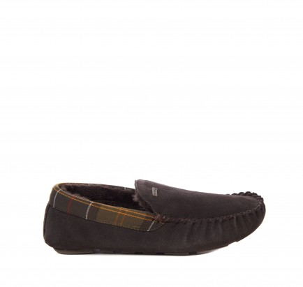 Barbour Monty Moccasin Slipper Brown