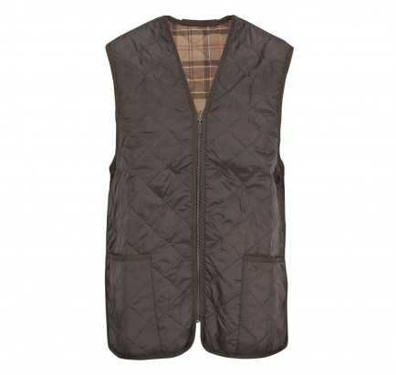 Barbour Quilted Waistcoat / Zip In Lining Olive (Classic Tartan)
