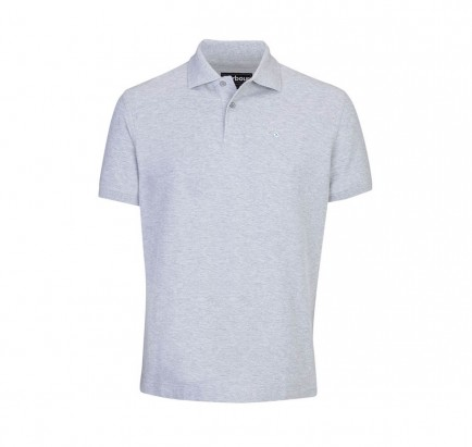 Barbour Sports Polo 215G Grey Marl