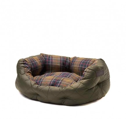 Barbour Quilted Dog Bed 24in Olive