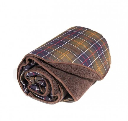 Barbour Large Dog Blanket Classic Tartan/Brown