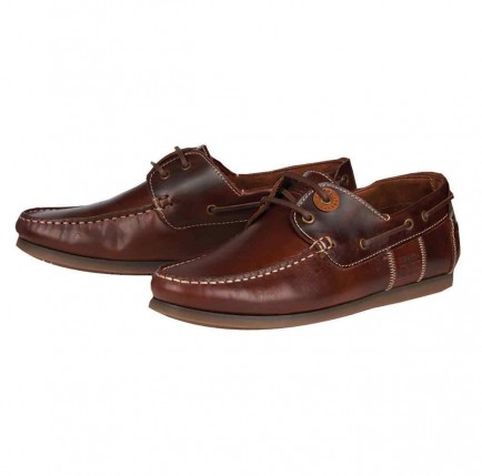 Barbour Capstan Boat Shoe Mahogany Leather