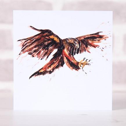 Meg Hawkins Pack of 6 'Eddie' the eagle greeting cards