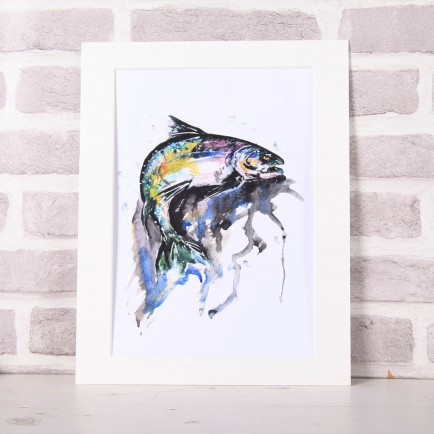 Meg Hawkins Mounted 'Fish' Print