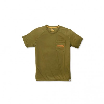 Carhartt 103570 Fishing T-Shirt S/S Military Olive