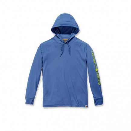 Carhartt 103572 Fishing Hooded T-Shirt L/S Federal Blue
