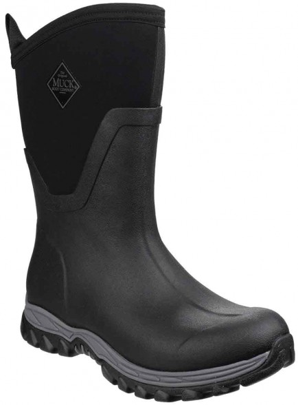 Muck Boots Arctic Sport Mid Pull On Wellington Boot Black/Black