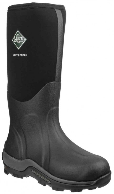 Muck Boots Arctic Sport Pull On Wellington Boot Black/Black