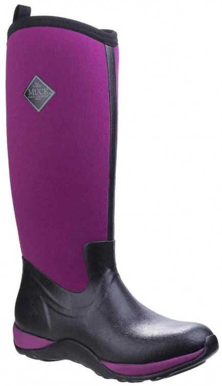 Muckboot Ladies Arctic Adventure Black/Maroon