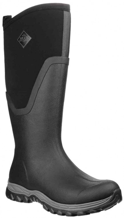 Muck Boots Arctic Sport Tall Pull On Wellington Boot Black/Black