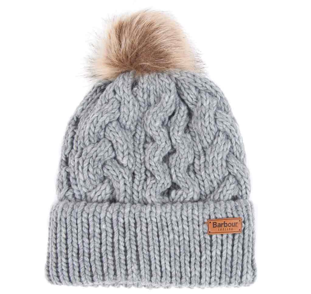 209ddd423 Barbour Penshaw Cable Beanie Grey