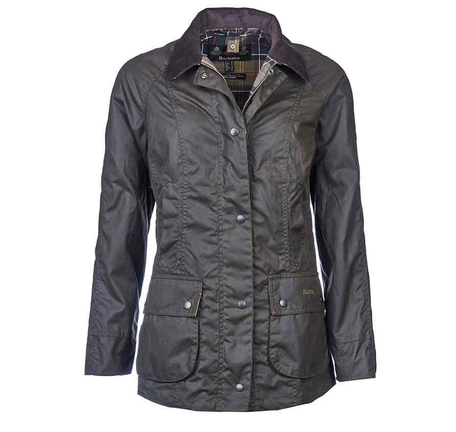 Barbour Classic Beadnell Wax Jacket Olive Ladies Wax