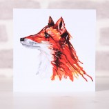 Meg Hawkins Pack of 6 'Fred' the fox greeting cards