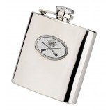 6oz Crossed Guns Flask by Bisley