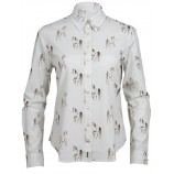 Toggi Lambley Ladies Horse Print Shirt Tan Horse Print