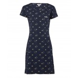 Barbour Harewood Print Dress Navy Bee Print