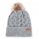 Barbour Penshaw Cable Beanie Grey