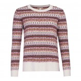 Barbour Peak Fairisle Knit Sweater Off White