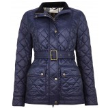 Barbour Bowland Quilt Navy