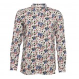 Barbour Everly Shirt Off White Strawberry Print