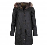 Barbour Mull Wax Parka Olive/Classic
