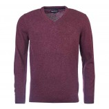 Barbour Essential Lambswool V Neck Merlot
