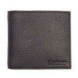 Barbour Grain Leather Billfold Wallet  Dark Brown