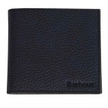 Barbour Grain Leather Billfold Coin Wallet  Black