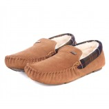 Barbour Monty Slipper Caramel Suede