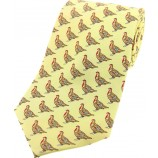 Printed Silk Tie Cream Grouse
