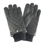 Barbour Quilted Leather Glove Black