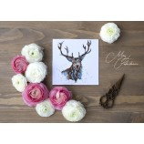 Meg Hawkins Pack of 6 Blue Stag greeting cards