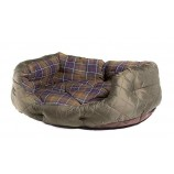 Barbour Quilted Dog Bed 35in Olive