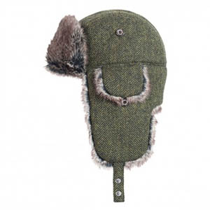 Barbour Bolam Tweed Trapper Hat