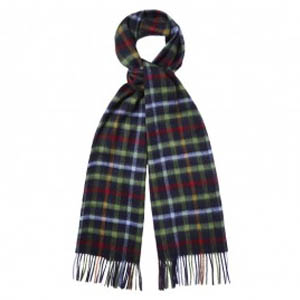 Barbour Bolt Tattersall Scarf Blue