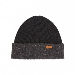 Barbour Cassop Fleck Pom Hat Charcoal