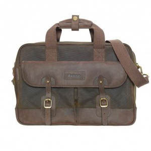 Barbour Mizzen Briefcase Olive