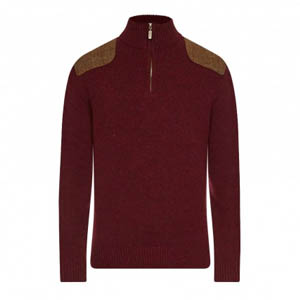 Barbour Netherfield Half Zip Ruby