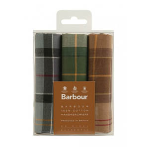 Barbour Pack of 3 Handkerchiefs