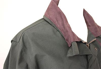 Button Back Collar