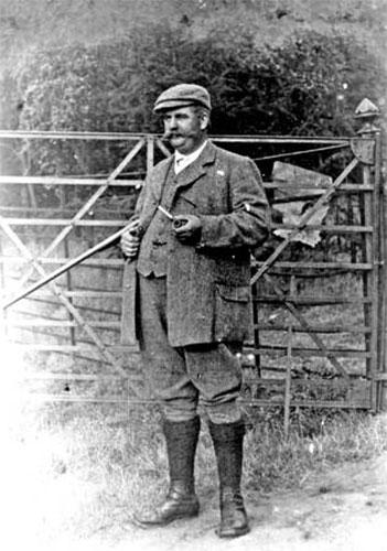 black and white gamekeeper photo